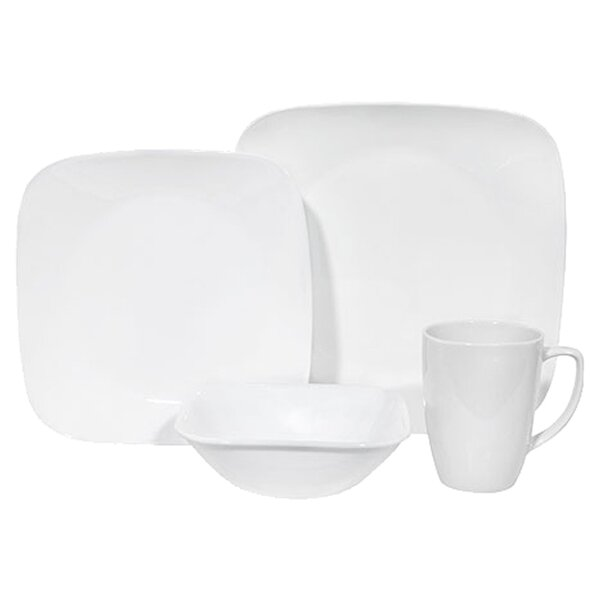 Square 16 Piece Dinnerware Set, Service for 4 by Corelle