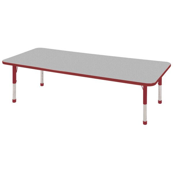 Thermo-Fused Adjustable 24 x 72 Rectangular Activity Table by ECR4kids