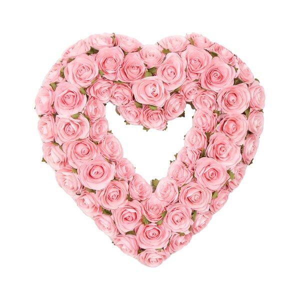 Rosebud Heart Wreath by Glenna Jean