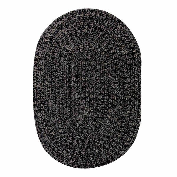Ultra-Durable Black Indoor/Outdoor Rug by Homespice Decor