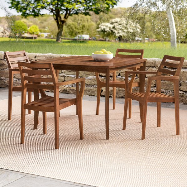 Tovar Tapered Square 5 Piece Dining Set by Beachcrest Home