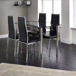 Essgruppe Maldon mit 4 Stühlen von Modern You