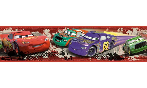 Disney Cars Piston Cup Racing Room Border Wall Mural by Wallhogs