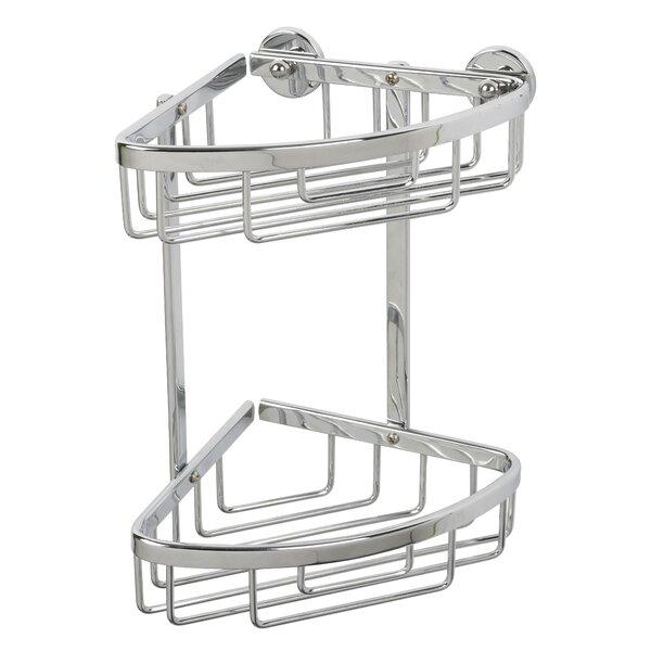 Ellenberger Aluminum 2-Tier Corner Basket by Rebrilliant