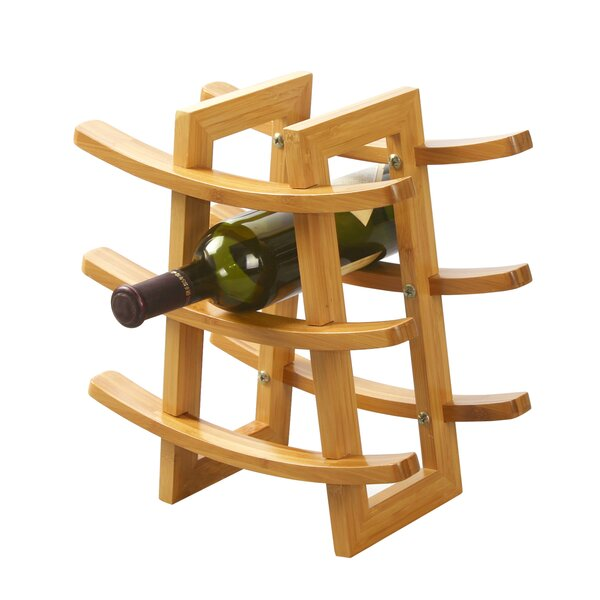 Harless Bamboo 9-Bottle Tabletop Wine Rack by Symple Stuff