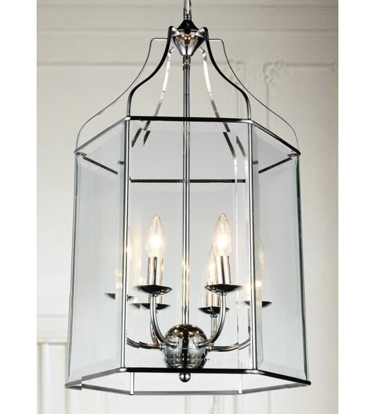 Dominguez 6 - Light Lantern Rectangle Chandelier by Charlton Home Charlton Home