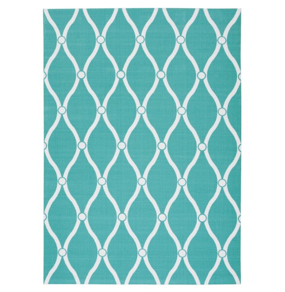 Astrid Blue/White Indoor/Outdoor Area Rug by Highland Dunes