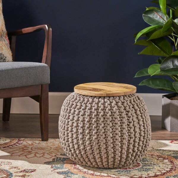 Squires Pouf By Bungalow Rose Best