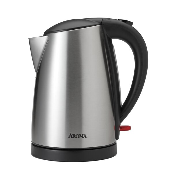 1.7 Liter Stainless Steel Electric Tea Kettle by Aroma