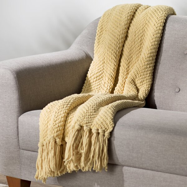 Nader Tweed Knitted Throw Blanket By Three Posts.