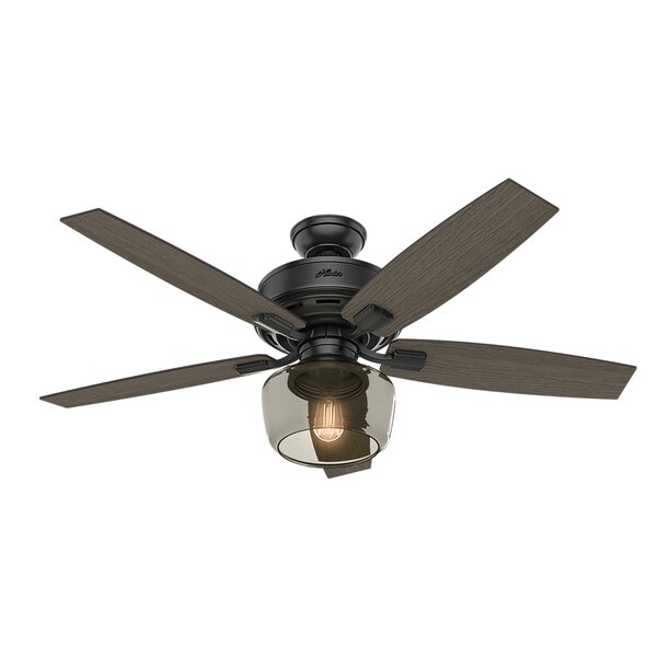 52 Bennett 5 Blade LED Ceiling Fan with Remote by Hunter Fan