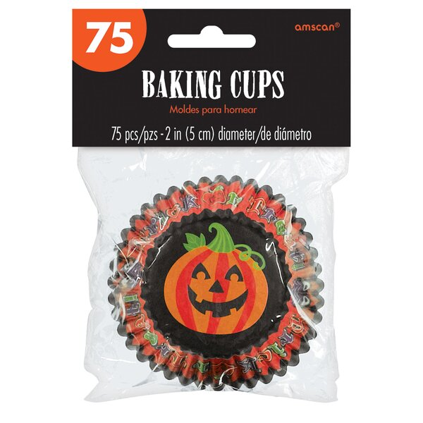 Halloween 150 Cup Pumpkin Cupcake Baking Cup (Set of 150) by Amscan