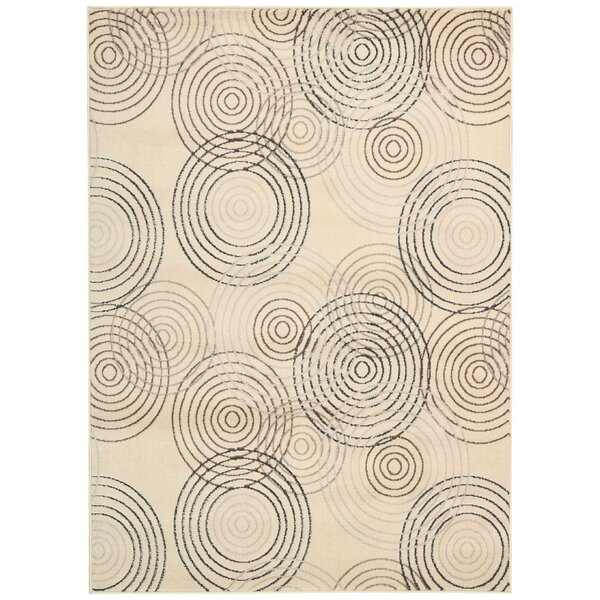Densmore Ivory Area Rug by Ebern Designs