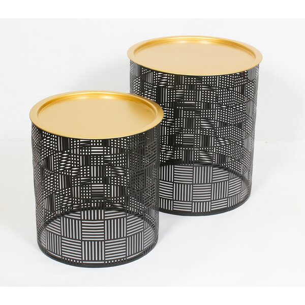Kenna Tray Top Drum Nesting Table By Mercer41