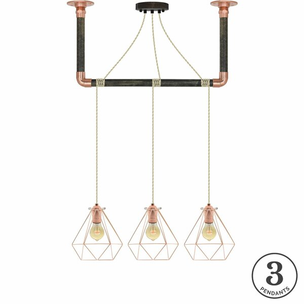 Diesel 3-Light Kitchen Island Pendant by Brayden Studio