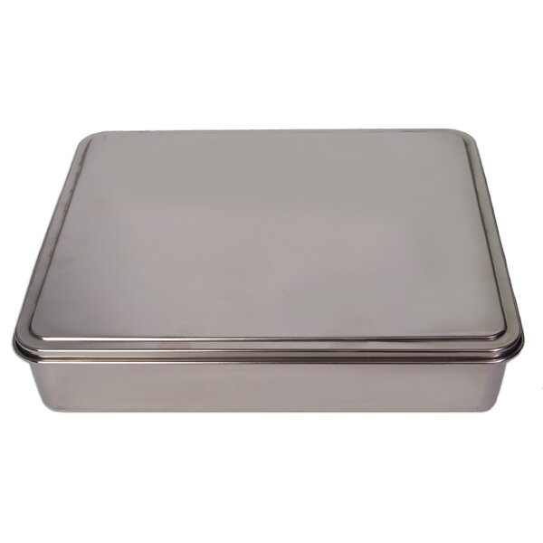 Stainless Steel Covered Cake Pan by YBM Home