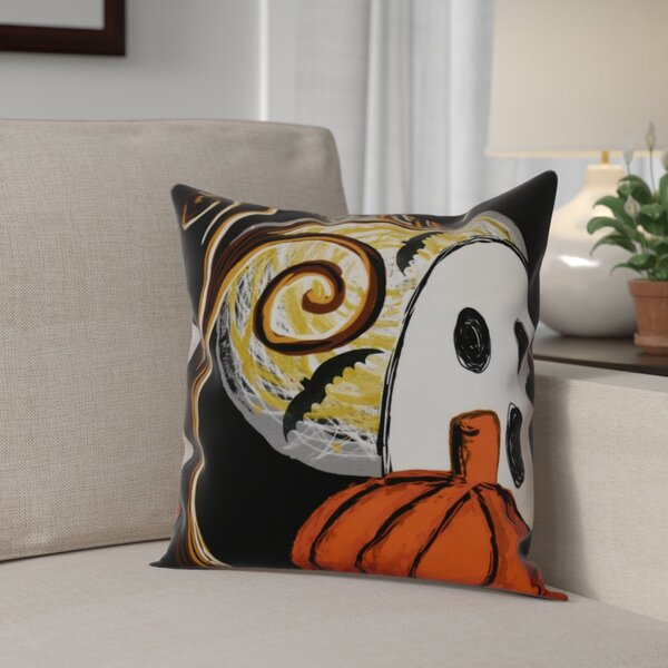 Flipping for Fall Ooky Spooky Outdoor Throw Pillow by The Holiday Aisle