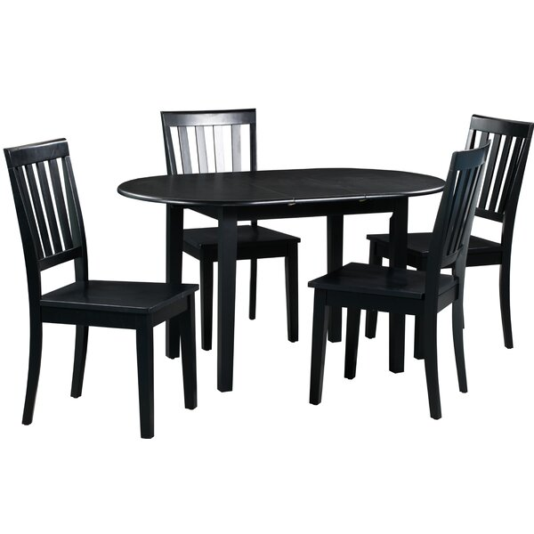 Spillers 5 Piece Extendable Solid Wood Dining Set by Winston Porter