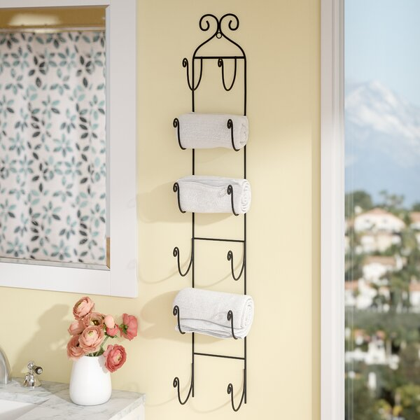 Poythress 6 Bottle Wall Mounted Wine Bottle Rack by Lark Manor Lark Manor