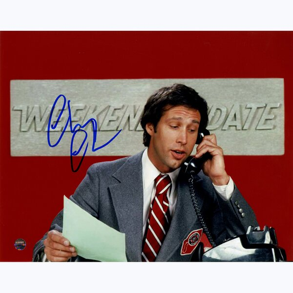 Chevy Chase Signed SNL Weekend Update Photographic Print by Steiner Sports