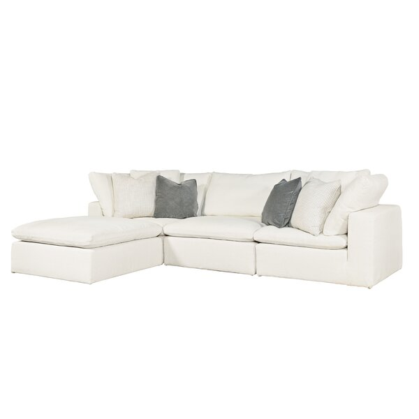 Fisher Reversible Sectional with Ottoman by Modern Rustic Interiors