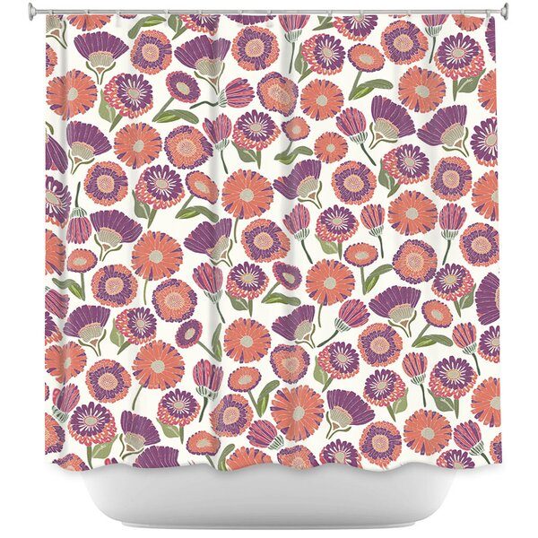 Groner Pretty Florals Shower Curtain by August Grove