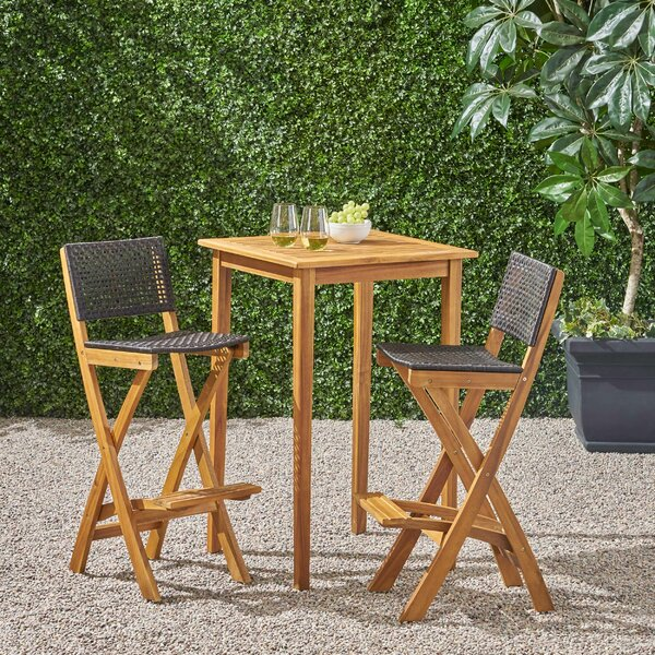 Kapisa 3 Piece Bar Dining Set by Winston Porter