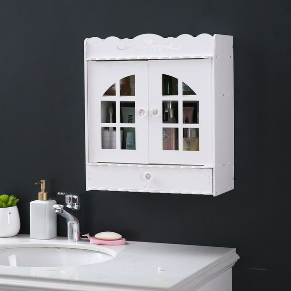 Edler 15'' W x 17'' H x 7'' D Wall Mounted Bathroom Cabinet