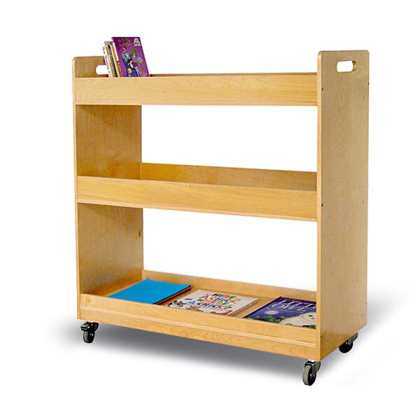 Flat Library Shelving Unit with Casters by A+ Child Supply