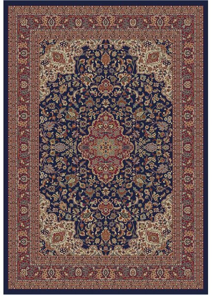 Edmont Jewel Heriz Navy Area Rug by World Menagerie