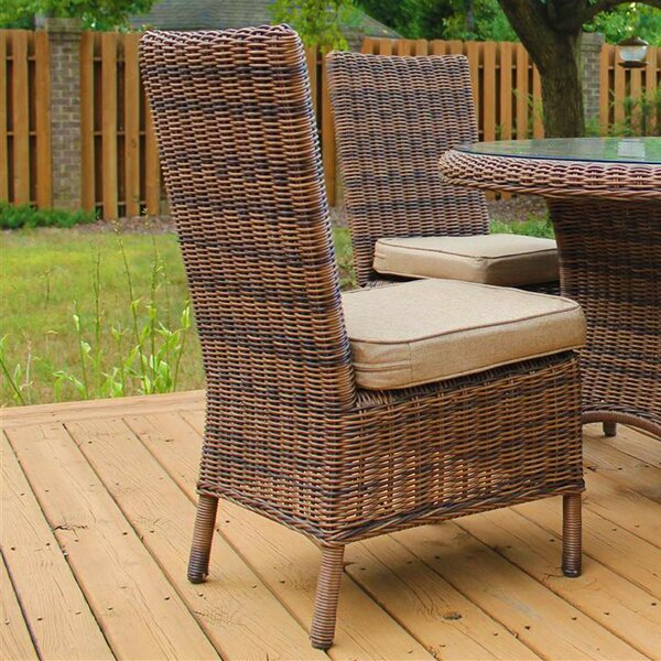 South Ferry Patio Dining Chair with Cushion by Bay Isle Home