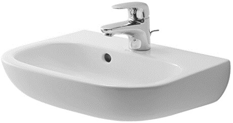 D-Code Ceramic 18 Wall Mount Bathroom Sink with Overflow by Duravit