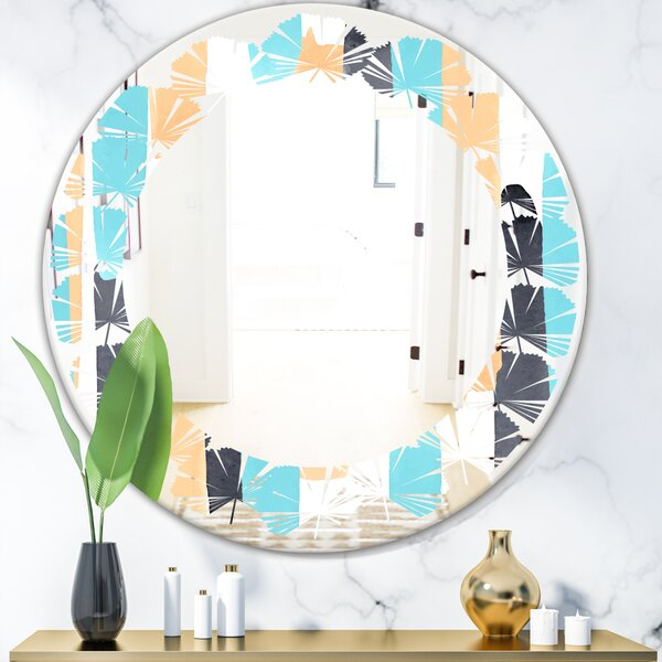 Leaves Geometrical Abstract I Modern Frameless Wall Mirror