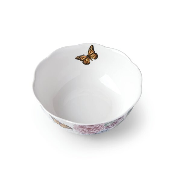 Butterfly Meadow Hydrangea Serving Bowl by Lenox