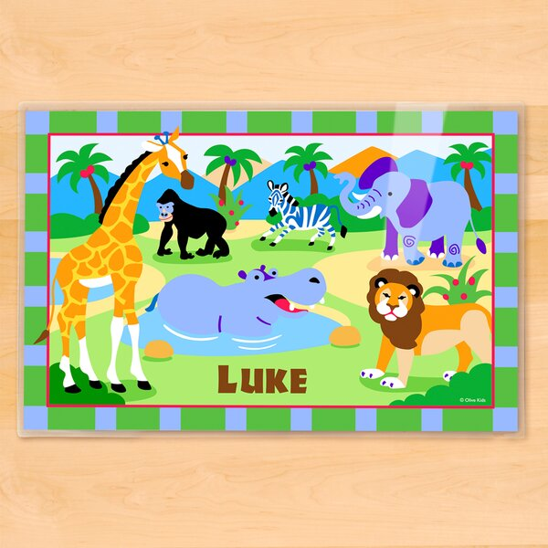 Wild Animals Personalized Placemat by Olive Kids