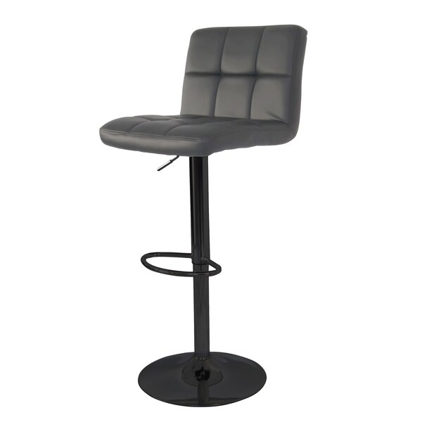 Ransome Adjustable Height Swivel Bar Stool by Wrought Studio