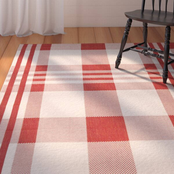 Wysocki Red Indoor/Outdoor Area Rug by August Grove
