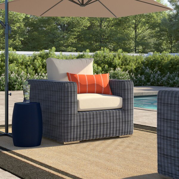 Keiran Outdoor Patio Arm Chair with Cushions by Brayden Studio Brayden Studio