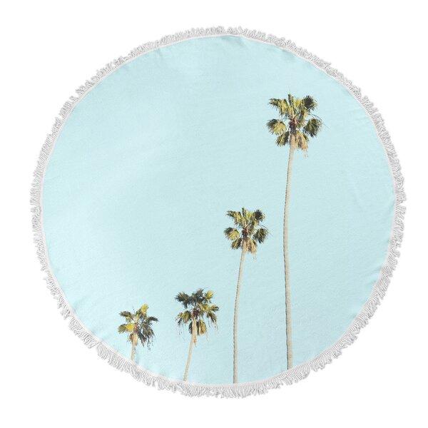 Palms Round Beach Towel by Brayden Studio