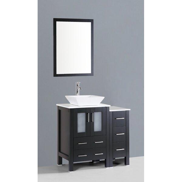Netto 36 Single Bathroom Vanity Set with Mirror by Ebern DesignsNetto 36 Single Bathroom Vanity Set with Mirror by Ebern Designs