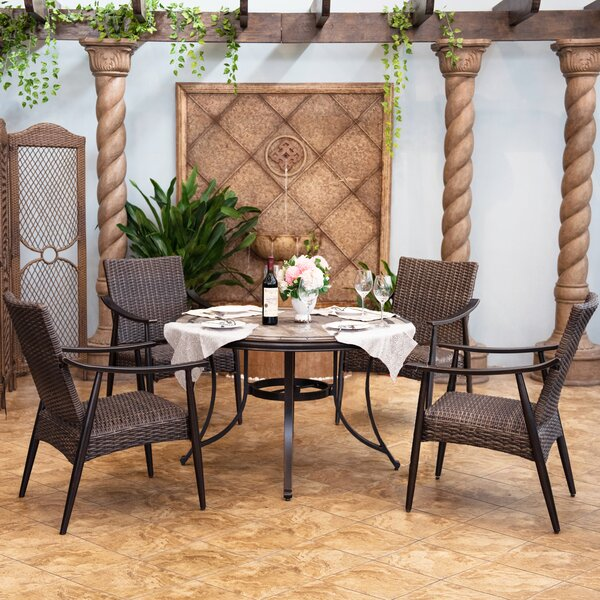 Dacosta Patio 5 Piece Dining Set by Darby Home Co