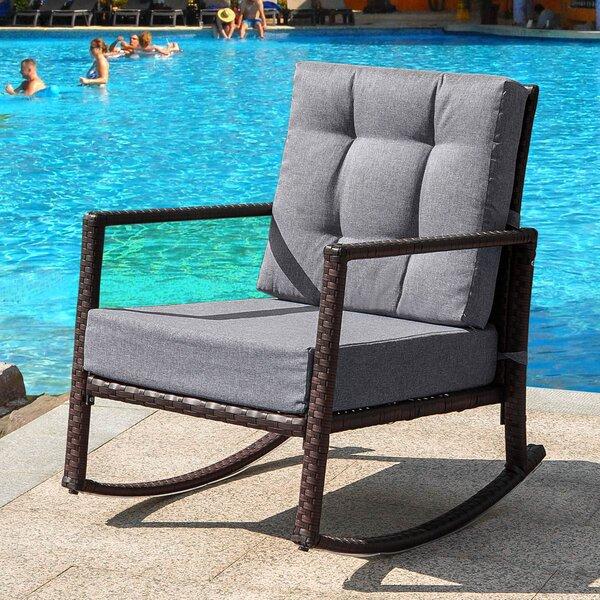 Aditi Rocking Chair with Cushions by Ebern Designs