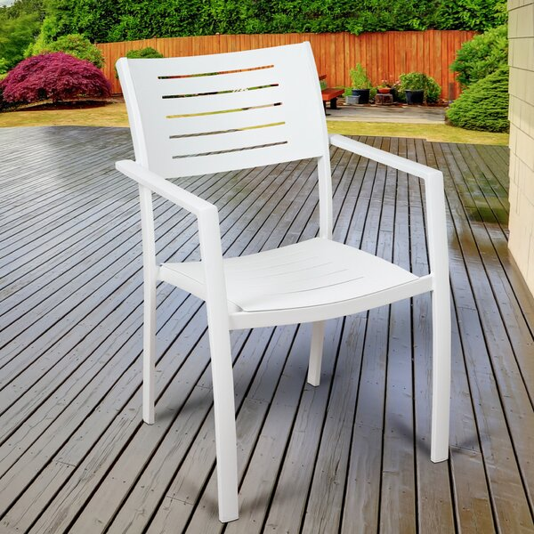 Aquia Creek Stacking Patio Dining Chair (Set of 4) by Brayden Studio