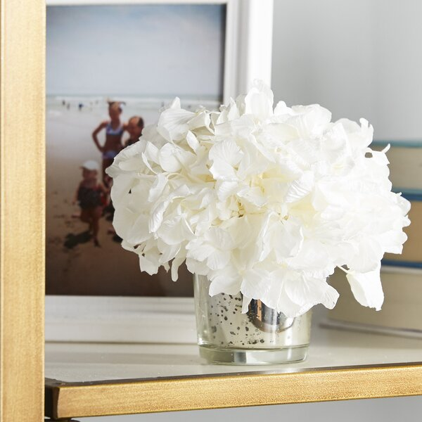 Mini Preserved Hydrangea in Vase by Birch Lane™