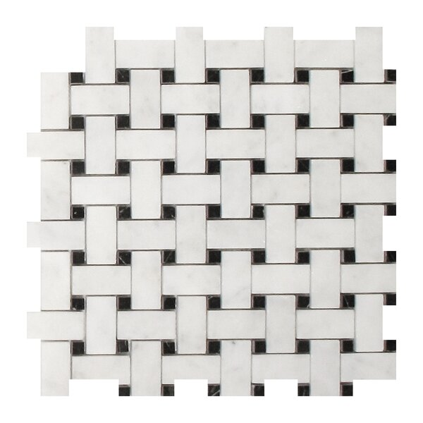 Imperial Carrara 1 x 2 Marble Mosaic Tile in White by Seven Seas