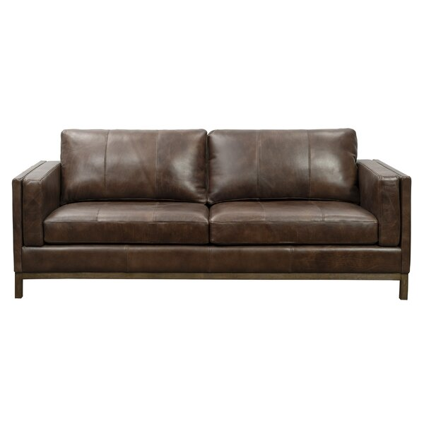 Tabor Leather Sofa by 17 Stories