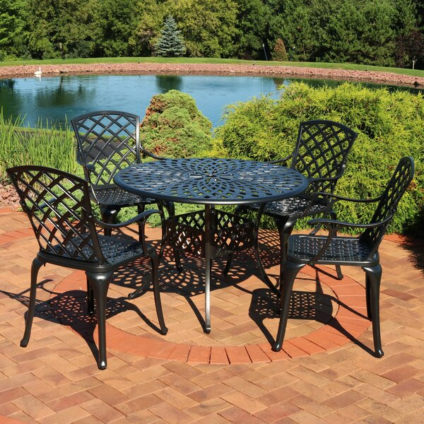 Middlewich Patio Cast Aluminum 5 Piece Dining Set by Charlton Home