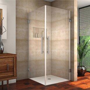 36 X 72 Hinged Semi Frameless Shower Door