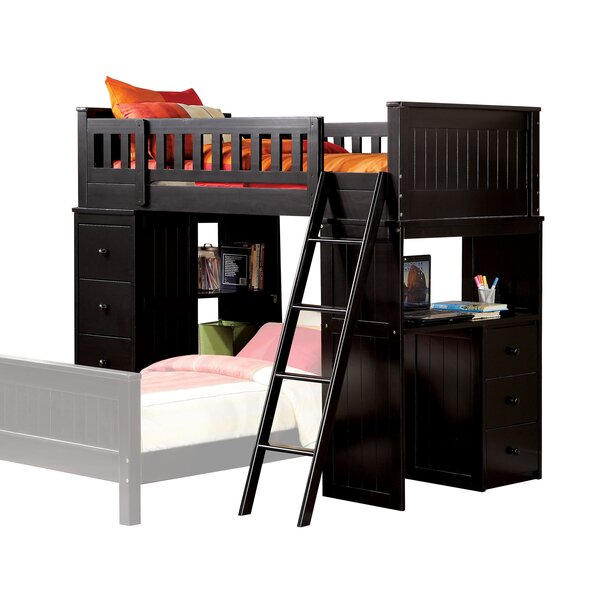 Knighton Twin Loft Bed with Drawers by Harriet Bee