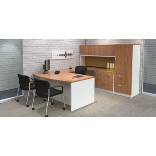 Intrinsic 4 Piece U-Shape Desk Office Suite with Tower Suite